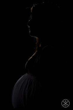 Silueta embarazada