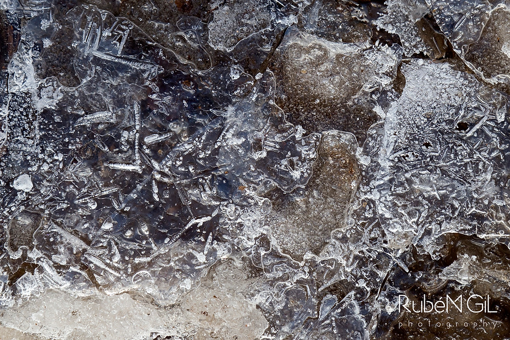 macro de hielo
