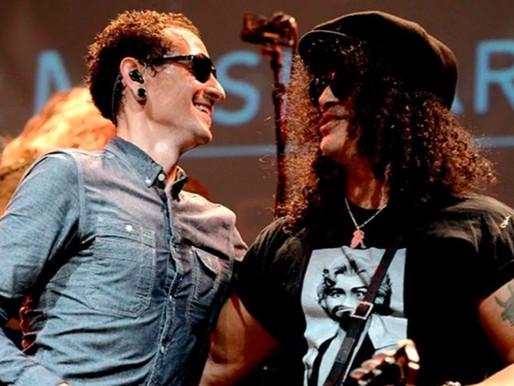 Colaboração entre Slash e Chester Bennington pode ser lançada em breve; ouça um trecho