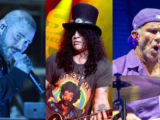 Post Malone faz cover de Black Sabbath com Slash e Chad Smith; assista