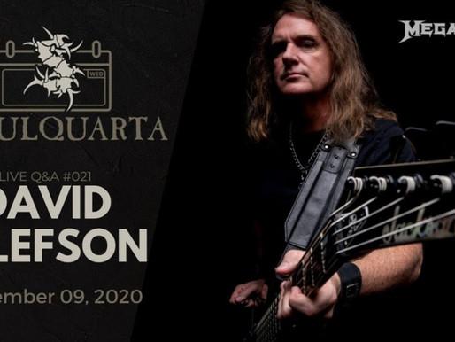 Sepultura faz live com David Ellefson, do Megadeth, hoje, às 16h
