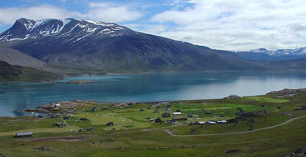 vackert landskap på sydgrönland