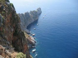 Klippor och hav i Turkiet