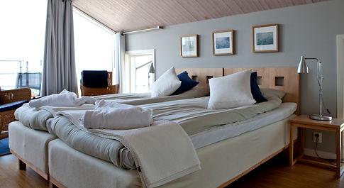 Sovrum med två sängar