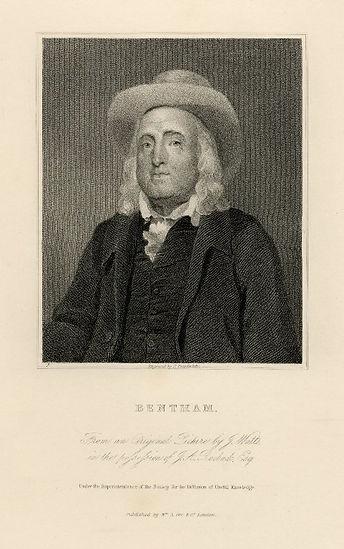 Bentham Steel engraved portrait by J. Po