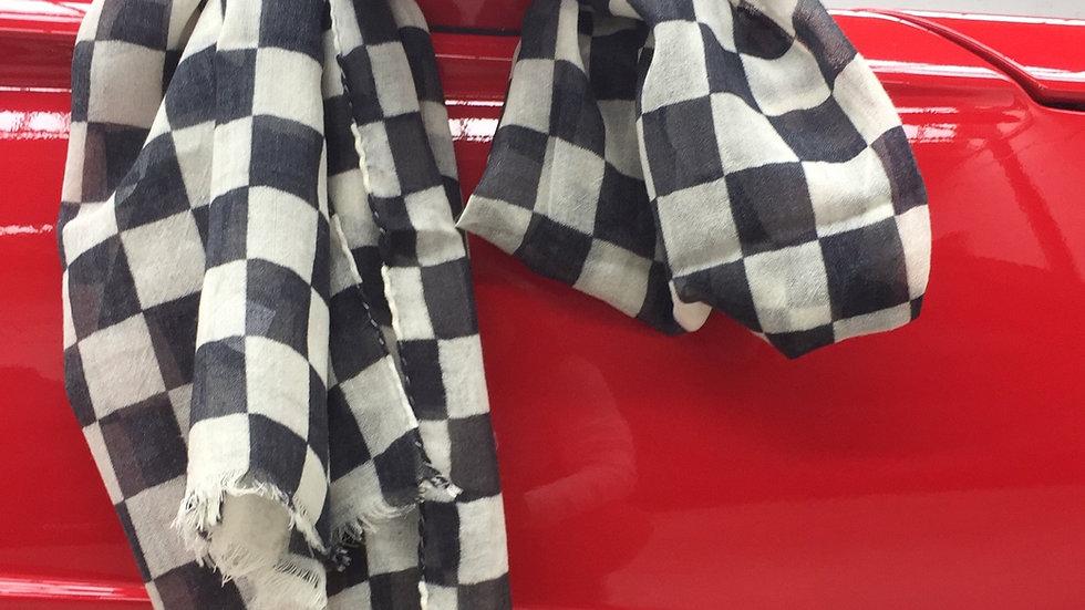 black racing scarf