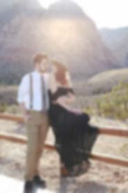 Boho elegant engagement shoot in desert - Red Rock Canyon, Las Vegas, Nevada - Photo by Jenny Blades