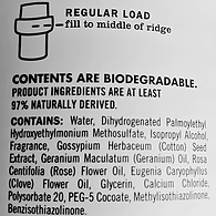 Biodegredable ingredient list for Fabric Softner