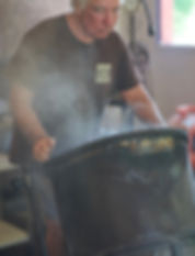 Gerry Caputo of Mariposa Coffee Compay roasting coffee