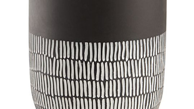 Cachepot 'Texturinhas' Preto