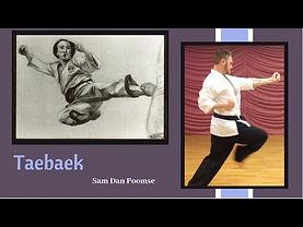 Taebaek Taekwondo form