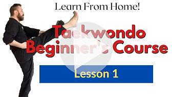 Taekwondo beginners front kick