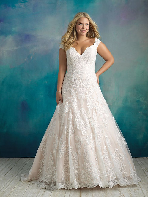 Allure Bridals W416 - Size 28W - Champange/Ivory