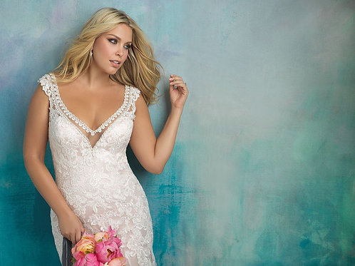 Allure Bridals W411 - Size 24W - Champagne/Ivory/Nude