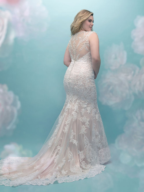 Allure Bridals Style W404 - Size 28W - Ivory