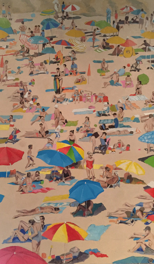 Crowded Beach on the Algarve - SOLD