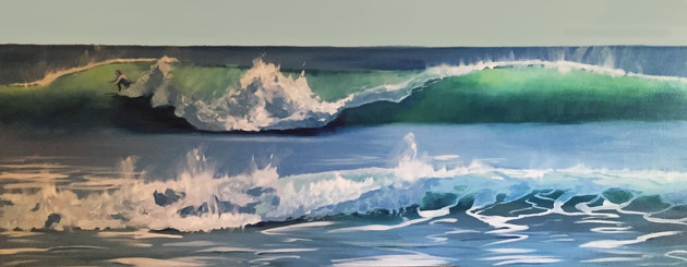 Surfer on the West Coast - SOLD