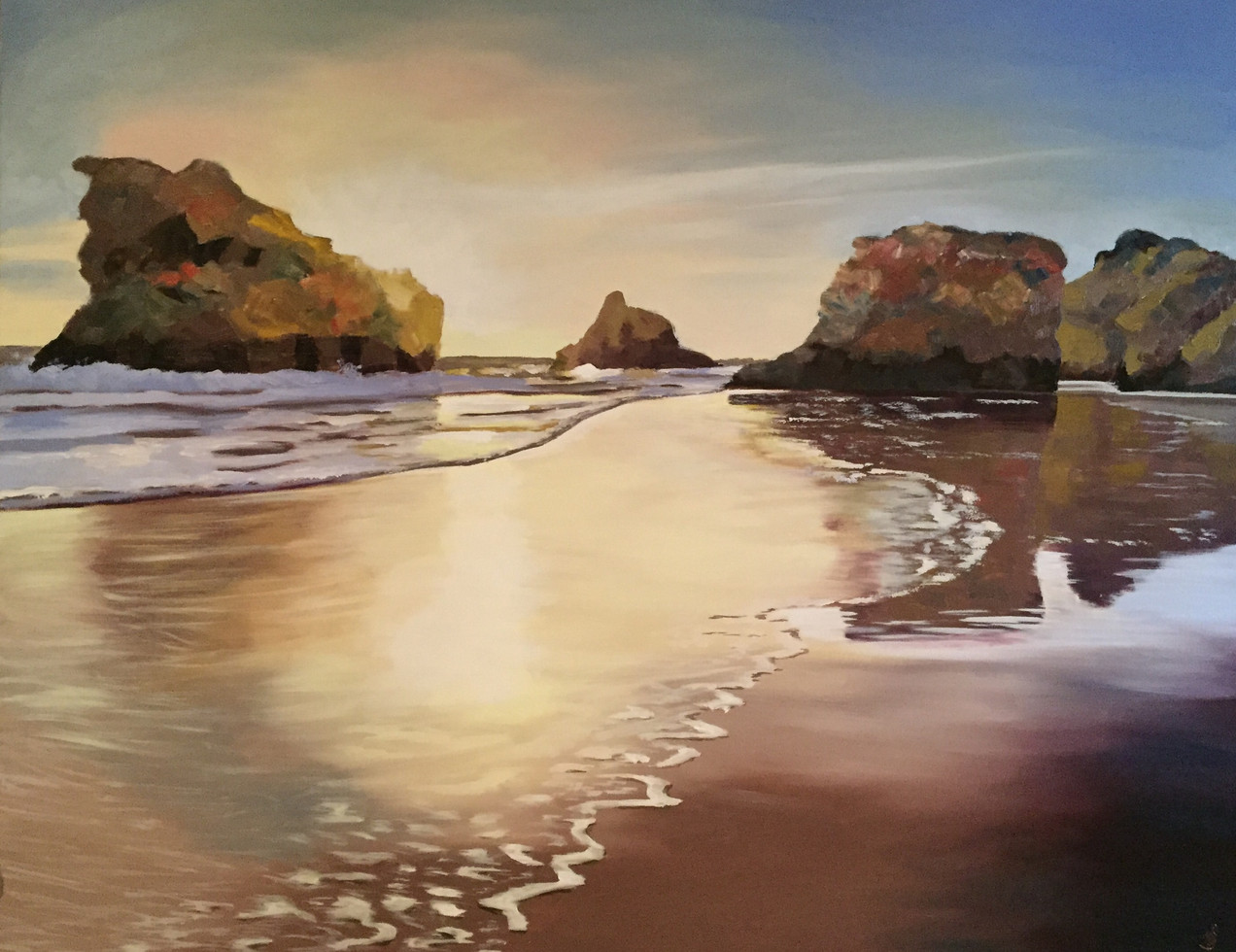 Sunset on Alvor Beach