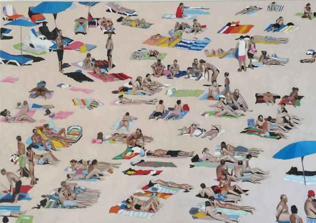 Sunbathers on the Algarve 2 - SOLD
