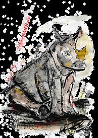 Rhino Calf Illustration