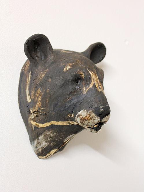 Alix, Asiatic Black Bear Head, Bleeding For Gold.