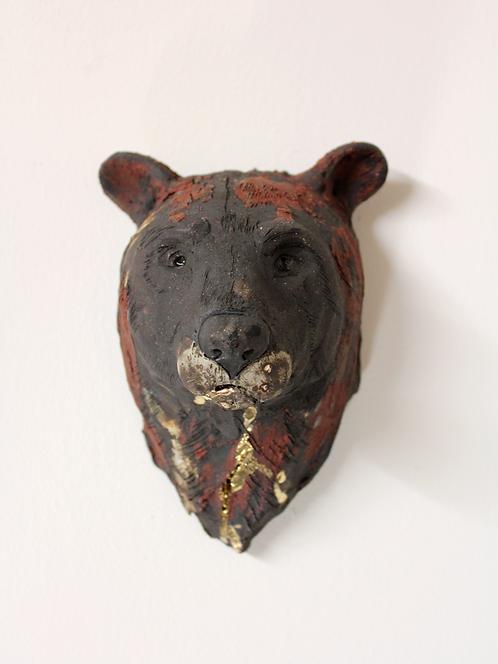 Haoran, Asiatic Black Bear Head, Bleeding For Gold.