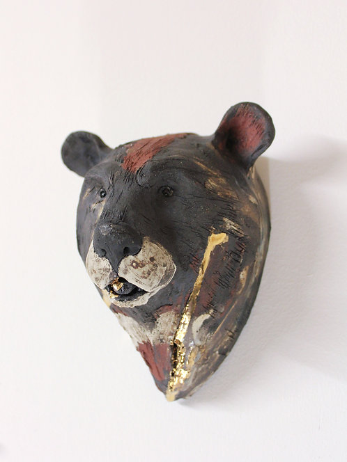 Shufen, Asiatic Black Bear Head, Bleeding For Gold.