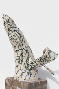 Alika Intertwined, White, Cloaked Cetacea