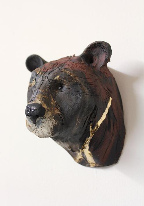 Lan, Asiatic Black Bear Head, Bleeding For Gold.