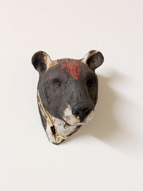 Jin, Asiatic Black Bear Head, Bleeding For Gold.