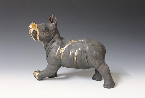 Hanuni, African Black Rhino, Bleeding For Gold.