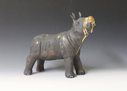 Elinah, African Black Rhino, Bleeding For Gold.