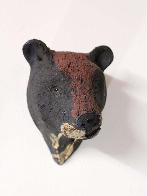 Lixue, Asiatic Black Bear Head, Bleeding For Gold.