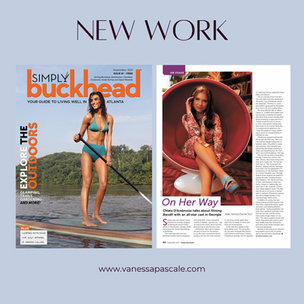 """Ready my interview with actress Chiara D'Ambrosio in """"Simply Buckhead's"""" September 2021 issue"""
