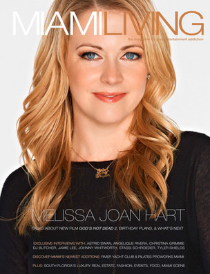 Miami Living Magazine February/March 2016 Issue featuring cover girl Melissa Joan Hart