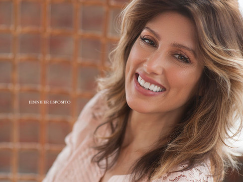 Jennifer Esposito covers the August/September issue of Miami Living