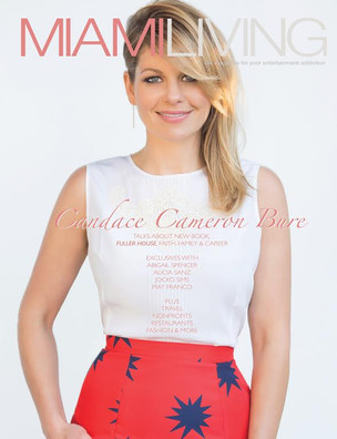Miami Living Magazine August/September 2015 issue featuring cover girl Candace Cameron Bure