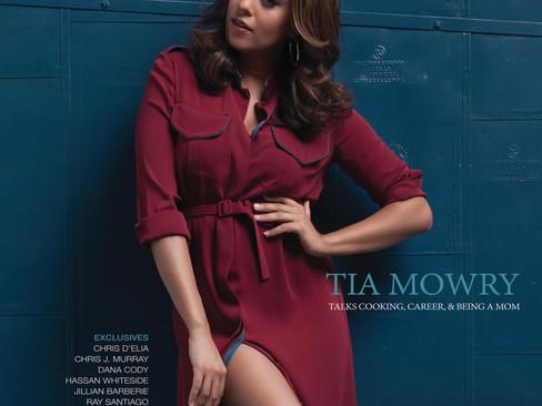 Tia Mowry graces Miami Living's October/November 2015 cover