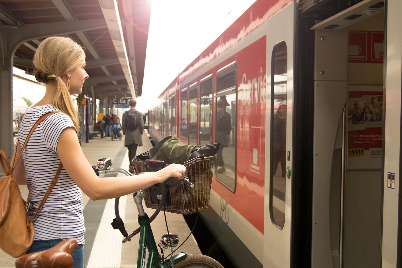 Start auf dem Stralsunder Bahnhof