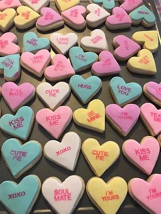 Dozen Conversation Hearts