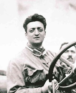 Enzo Ferrari in cloak