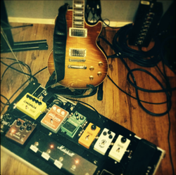 Guitar Amp and Pedals in Live Room 2