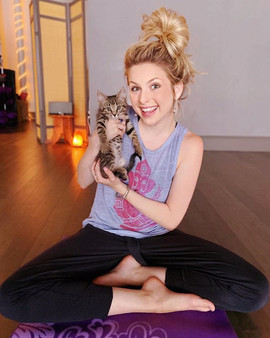 WE DID KITTEN YOGA!! 🐱 A great little fundraiser for the wonderful @ywacpets! Had such a fun time — even if mom wouldn't let me take one of these little guys home!