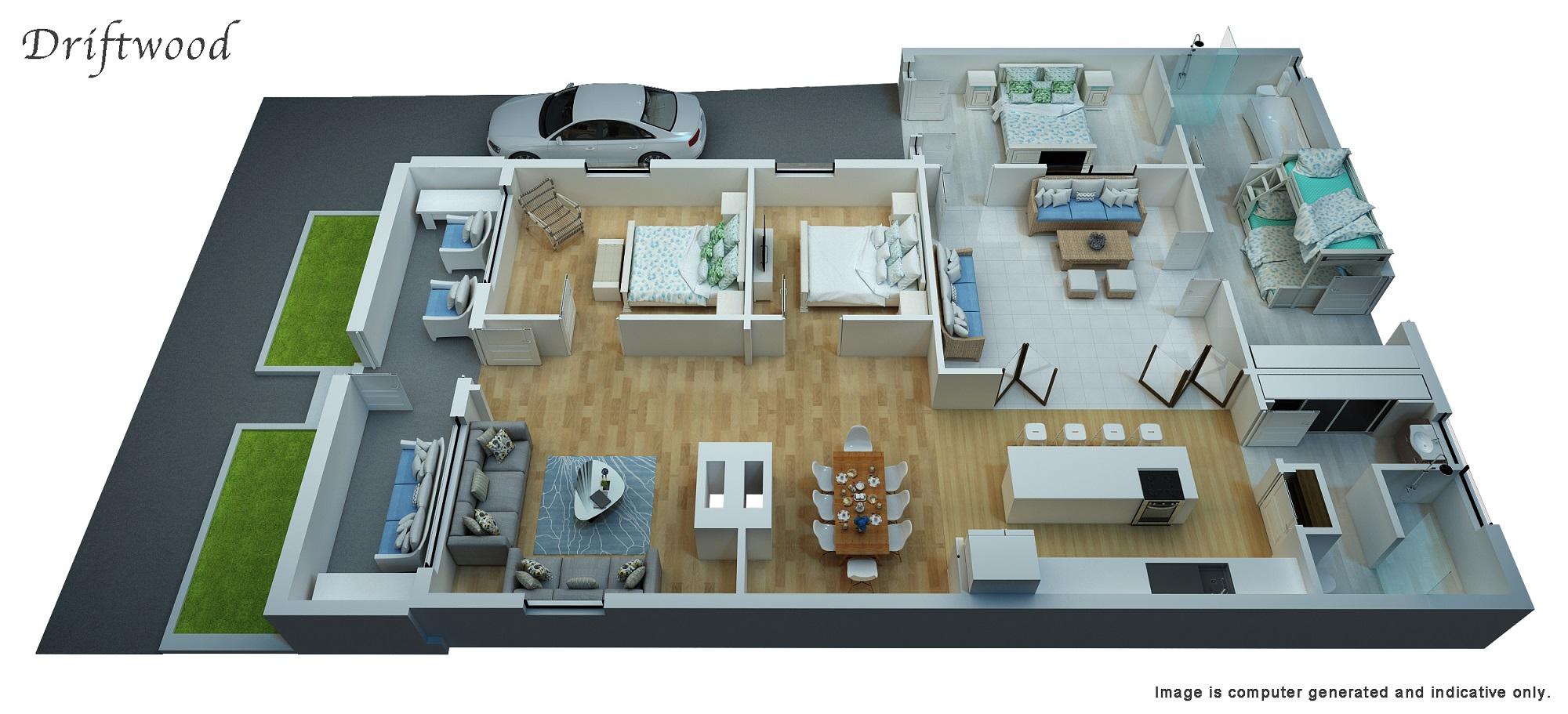 3D Floor Plan - 90%