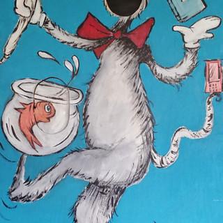 cat in the hat mural
