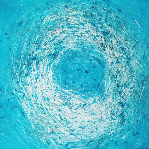 tangled in blue