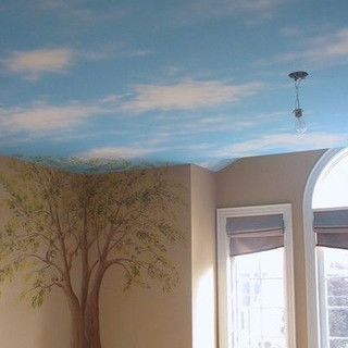 tree and sky mural