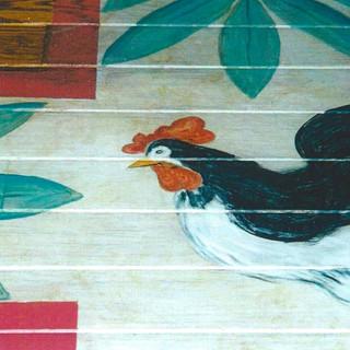 hand painted floor detail