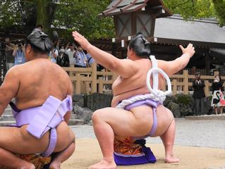 四横綱土俵入り(熱田神宮)