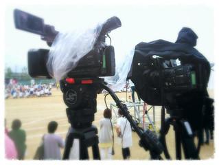 小雨の運動会撮影
